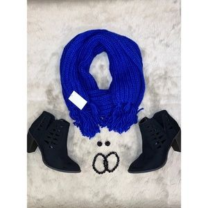NWT Forever 21 Cobalt Blue Wool Scarf